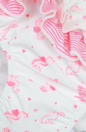 Детского плавки с принтом и оборками SUNUVA розового цвета, арт. BG8473N | Фото 3