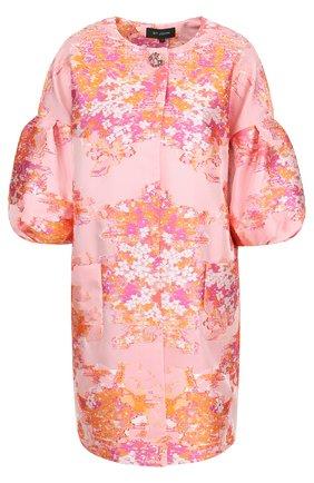 Пальто свободного кроя с укороченными объемными рукавами | Фото №1