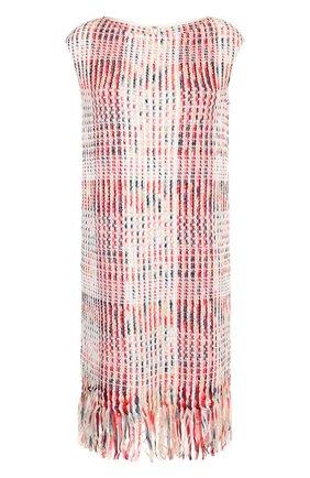 Буклированное платье-миди с бахромой | Фото №1