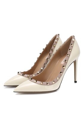 Женская лаковые туфли valentino garavani rockstud VALENTINO белого цвета, арт. PW2S0057/VNW | Фото 1
