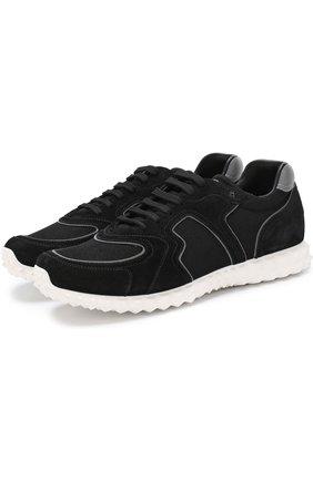 3181ef0fa077 Мужские черные комбинированные кроссовки valentino garavani soul am ...