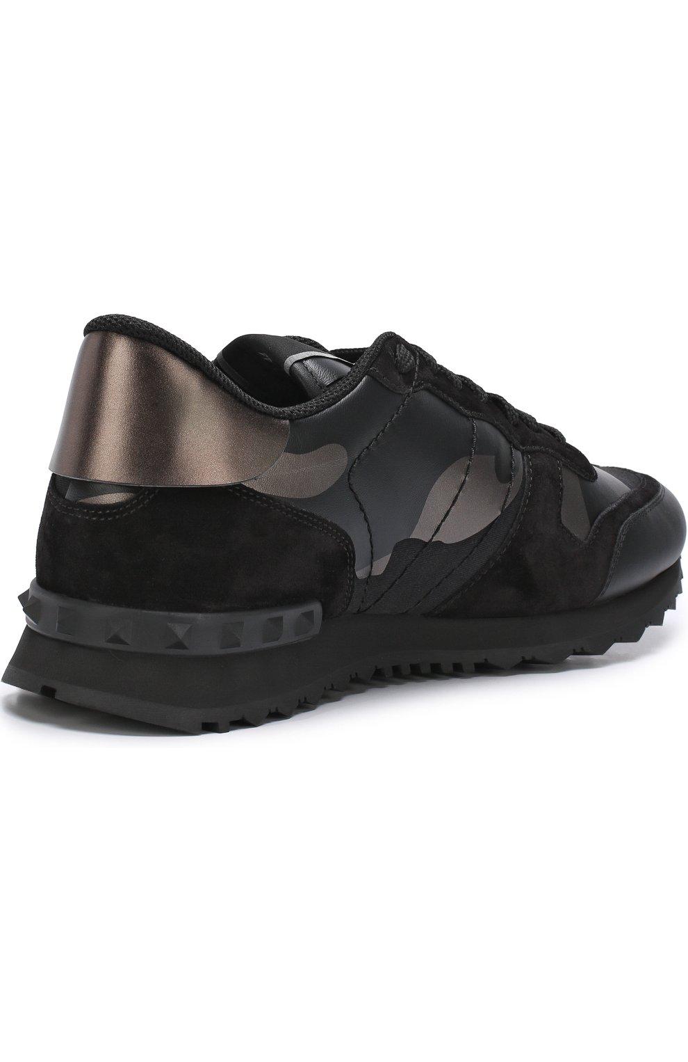 Комбинированные кроссовки Valentino Garavani Rockrunner   Фото №4 234389243ab