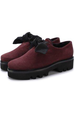 Замшевые ботинки Fabula с внутренней отделкой из овчины Steiger бордовые | Фото №1
