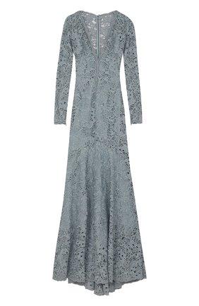 Приталенное кружевное платье-макси с подолом | Фото №1
