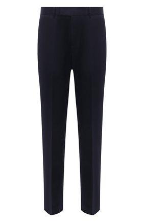 Мужской хлопковые брюки GUCCI синего цвета, арт. 468518/Z3732 | Фото 1