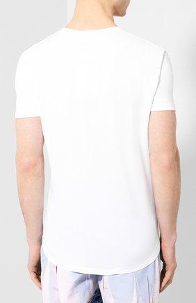 Мужская хлопковая футболка ORLEBAR BROWN белого цвета, арт. 259516 | Фото 4 (Рукава: Короткие; Длина (для топов): Стандартные; Материал внешний: Хлопок; Мужское Кросс-КТ: Футболка-белье)