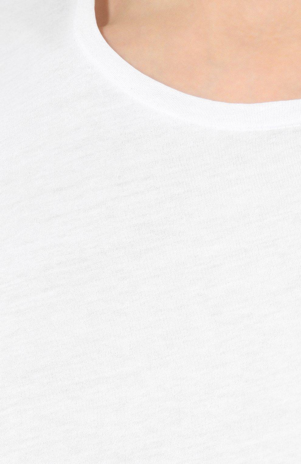 Мужская хлопковая футболка ORLEBAR BROWN белого цвета, арт. 259516 | Фото 5 (Рукава: Короткие; Длина (для топов): Стандартные; Материал внешний: Хлопок; Мужское Кросс-КТ: Футболка-белье)