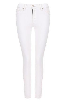 Однотонные джинсы-скинни Rag&Bone белые | Фото №1