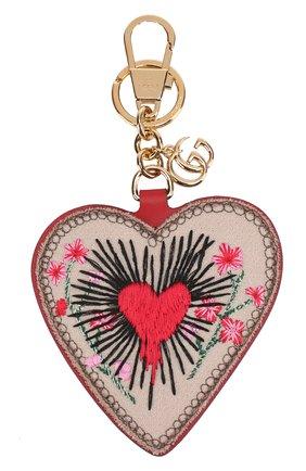 Брелок для ключей GG Supreme в виде сердца | Фото №1