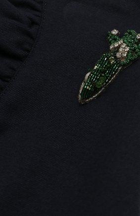 Мини-юбка с аппликацией и оборками | Фото №3