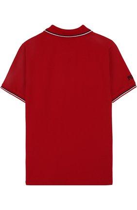 Детское хлопковое поло с вышивкой POLO RALPH LAUREN красного цвета, арт. 323694730 | Фото 2