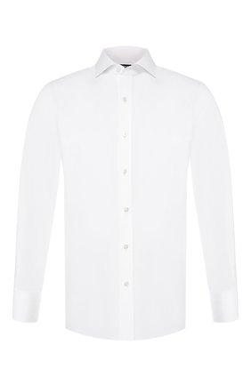 Мужская хлопковая сорочка TOM FORD белого цвета, арт. 3FT190/94C1AX | Фото 1