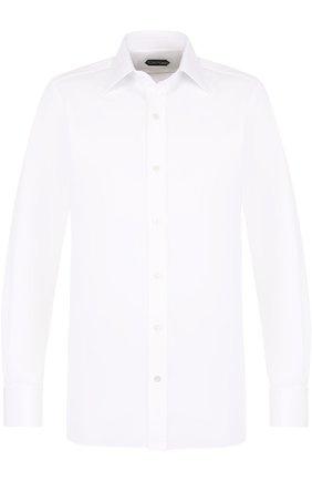Мужская хлопковая сорочка с воротником кент TOM FORD белого цвета, арт. 3FT690/94C1JE | Фото 1