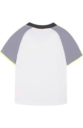 Детская футболка с контрастной отделкой SUNUVA белого цвета, арт. SB8617A/1-6 | Фото 2
