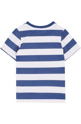 Детская футболка в полоску SUNUVA синего цвета, арт. SB8667A/1-6 | Фото 2