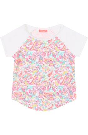 Детская футболка с принтом SUNUVA розового цвета, арт. SG8320A/1-6 | Фото 1