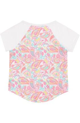 Детская футболка с принтом SUNUVA розового цвета, арт. SG8320A/1-6 | Фото 2