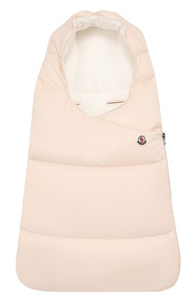 Детский пуховый конверт с логотипом бренда MONCLER ENFANT светло-розового цвета, арт. C2-951-00828-05-53079 | Фото 1
