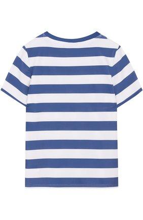 Детская футболка в полоску SUNUVA синего цвета, арт. SB8667A/7-14 | Фото 2