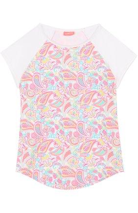 Детская футболка с принтом SUNUVA розового цвета, арт. SG8320A/7-14 | Фото 1