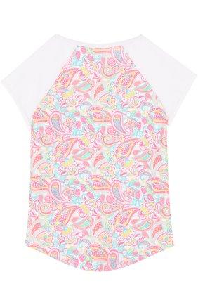Детская футболка с принтом SUNUVA розового цвета, арт. SG8320A/7-14 | Фото 2