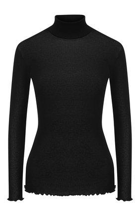 Женская водолазка из смеси кашемира и шелка DANA PISARRA черного цвета, арт. PARIGI/WS08 | Фото 1