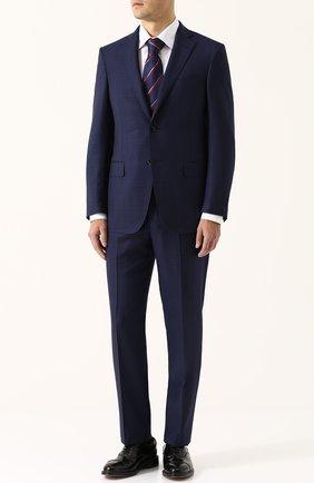 Шерстяной костюм с пиджаком на двух пуговицах   Фото №1