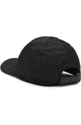 Мужской хлопковая бейсболка BOTTEGA VENETA черного цвета, арт. 491590/4V690 | Фото 2
