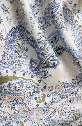 Женский шелковый платок с принтом MICHELE BINDA разноцветного цвета, арт. 18035424 | Фото 2