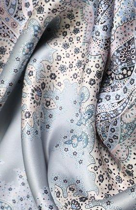 Женский шелковый платок с принтом MICHELE BINDA разноцветного цвета, арт. 18035717 | Фото 2