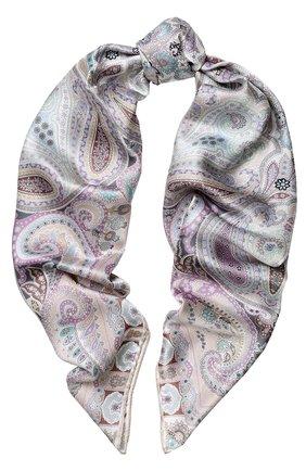 Женский шелковый платок с принтом MICHELE BINDA разноцветного цвета, арт. 18036509 | Фото 1