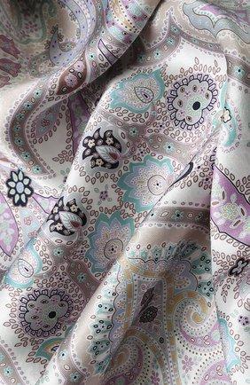 Женский шелковый платок с принтом MICHELE BINDA разноцветного цвета, арт. 18036509 | Фото 2
