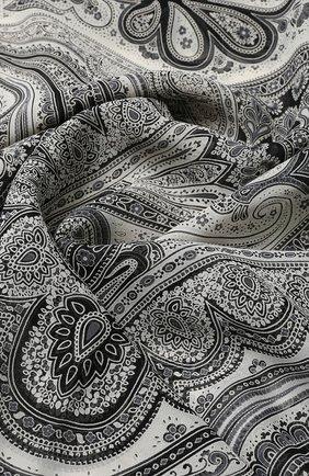 Женский шелковый платок с принтом MICHELE BINDA разноцветного цвета, арт. 18336385 | Фото 2