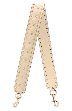 Женские кожаный ремень для сумки valentino garavani rockstud spike VALENTINO молочного цвета, арт. PW2P0P37/NAP | Фото 1