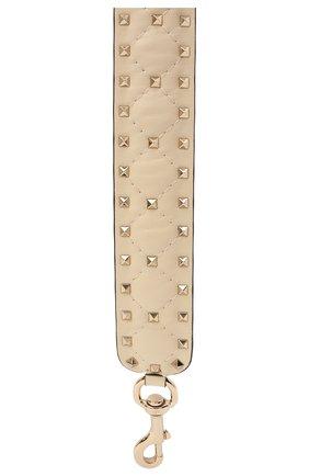 Женские кожаный ремень для сумки valentino garavani rockstud spike VALENTINO молочного цвета, арт. PW2P0P37/NAP | Фото 2