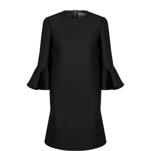 Мини-платье с расклешенными рукавами и круглым вырезом Valentino