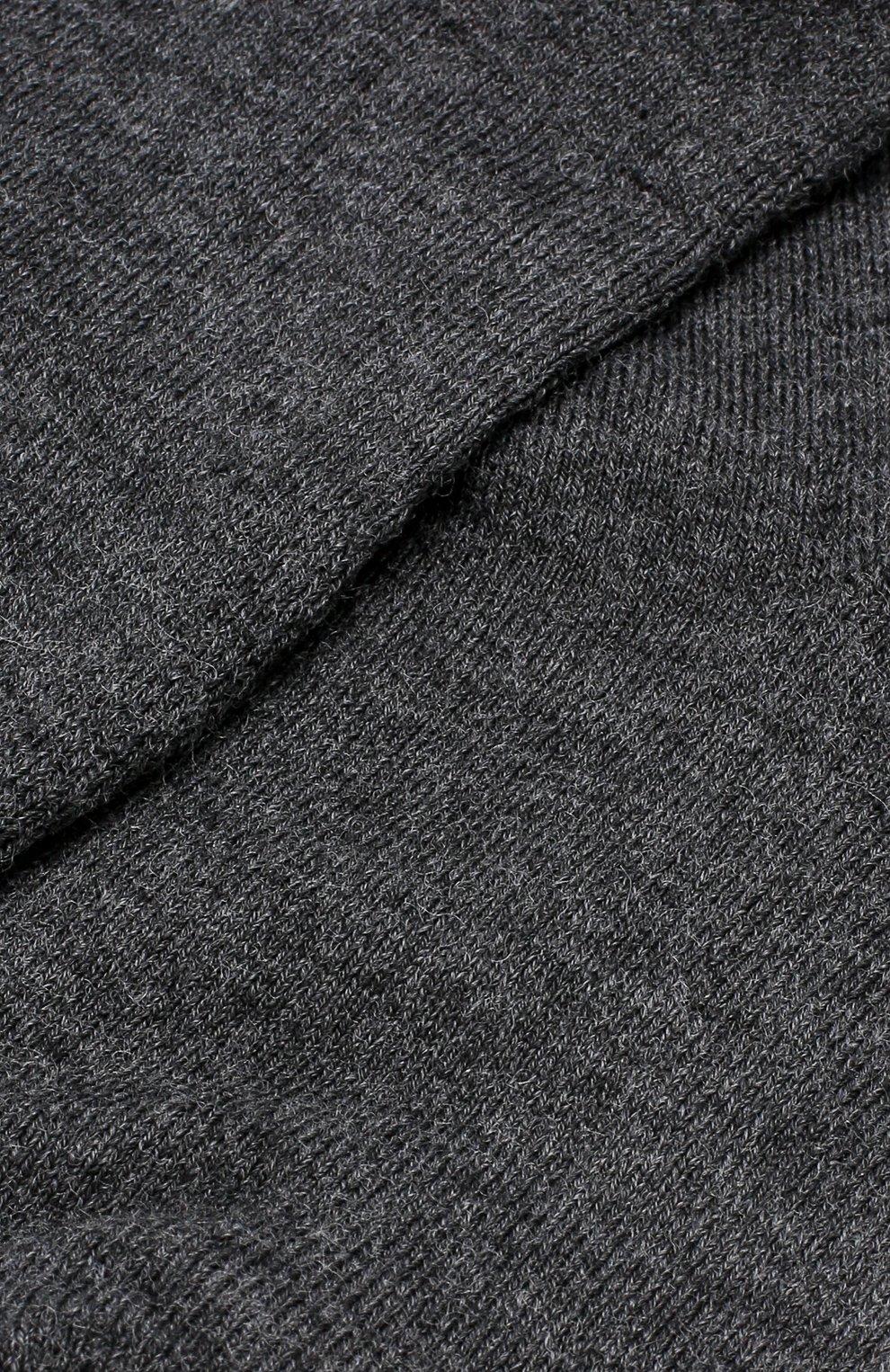 Женские хлопковые однотонные носки NORVEG темно-серого цвета, арт. 9THWRU | Фото 2