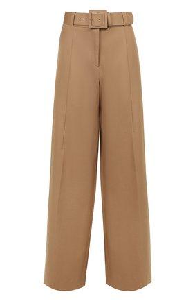 Хлопковые расклешенные брюки со стрелками | Фото №1