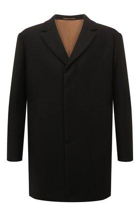 Однобортное шерстяное пальто | Фото №1
