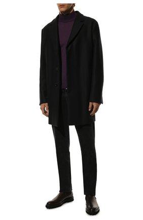 Однобортное шерстяное пальто | Фото №2
