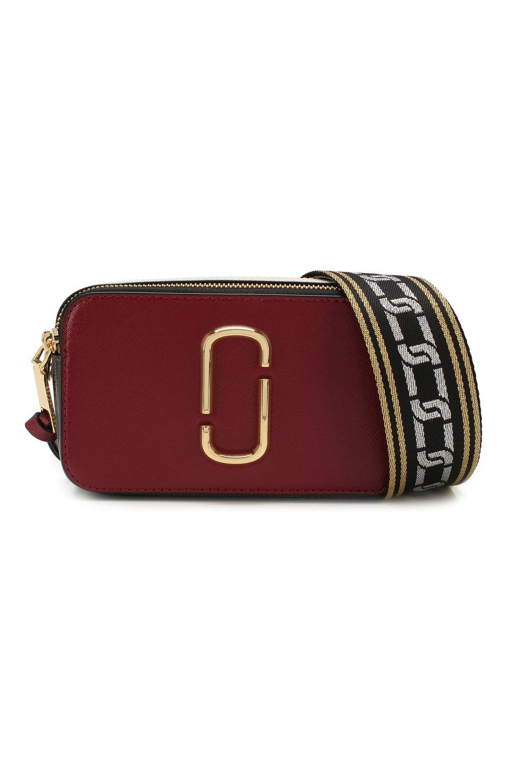 9651b58df562 Женская сумка snapshot small MARC JACOBS бордовая цвета — купить за ...