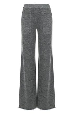 Однотонные расклешенные брюки с карманами MRZ серые | Фото №1