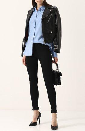 Однотонные джинсы-скинни Rag&Bone черные | Фото №1
