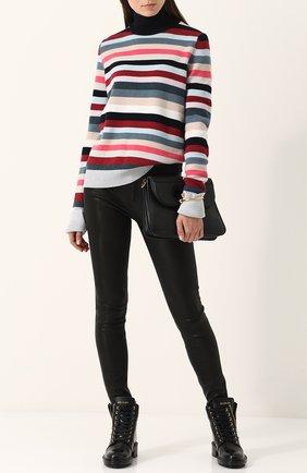 Однотонные кожаные брюки-скинни Rag&Bone черные | Фото №1