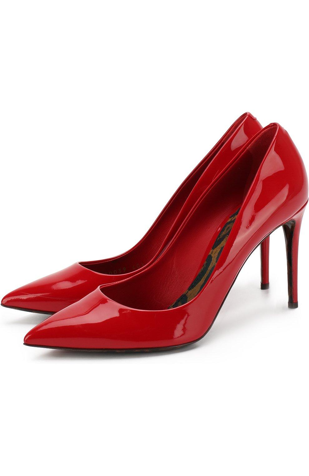 Женские кожаные туфли kate DOLCE & GABBANA красного цвета, арт. 0112/CD0039/AC062 | Фото 1