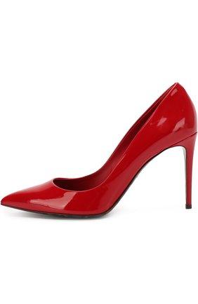 Женские кожаные туфли kate DOLCE & GABBANA красного цвета, арт. 0112/CD0039/AC062 | Фото 3