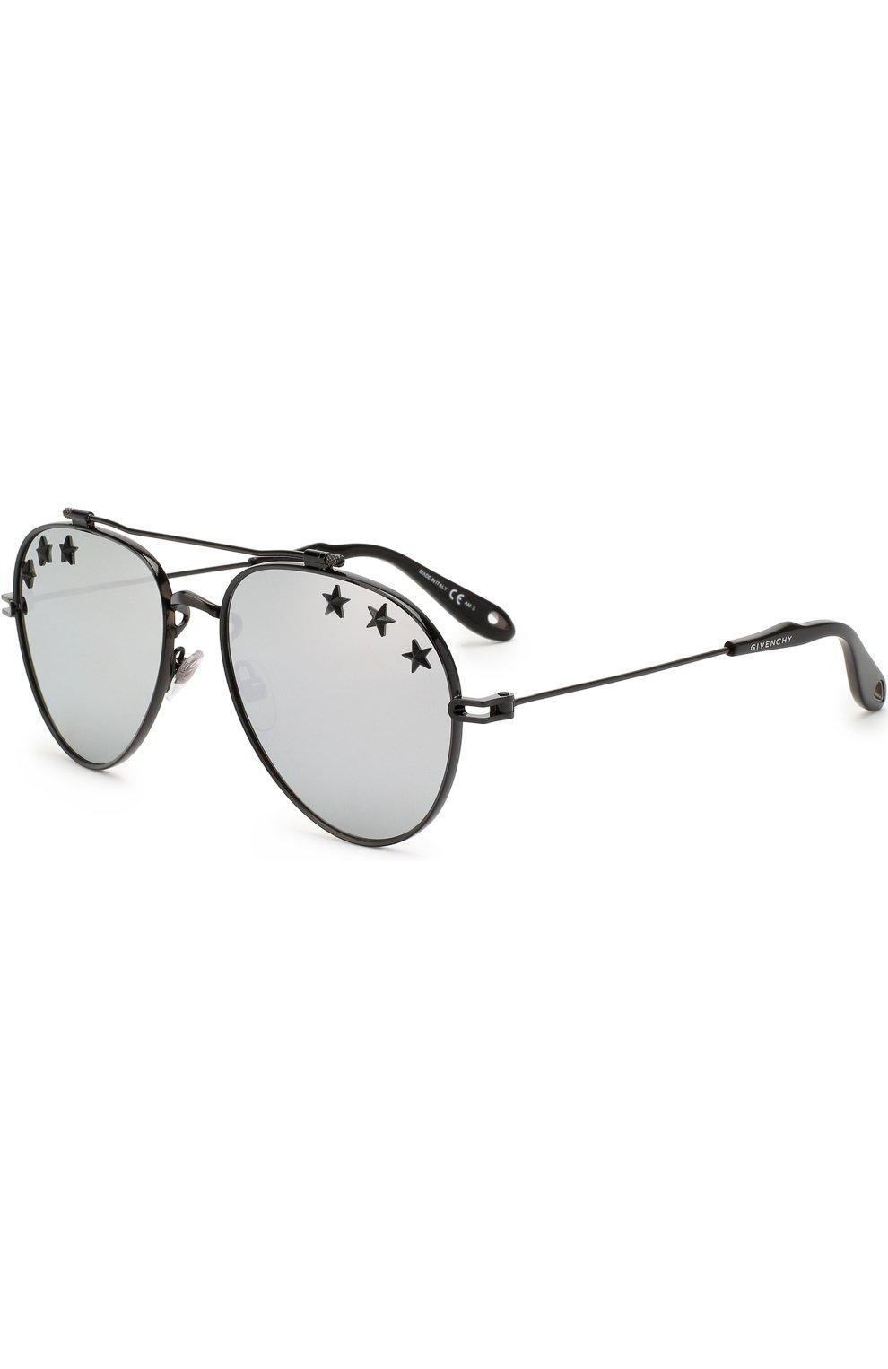 Женские солнцезащитные очки GIVENCHY черного цвета, арт. 7057/STARS 807 DC   Фото 1