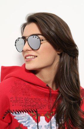 Женские солнцезащитные очки GIVENCHY черного цвета, арт. 7057/STARS 807 DC   Фото 2