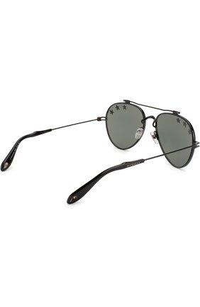 Женские солнцезащитные очки GIVENCHY черного цвета, арт. 7057/STARS 807 DC   Фото 3