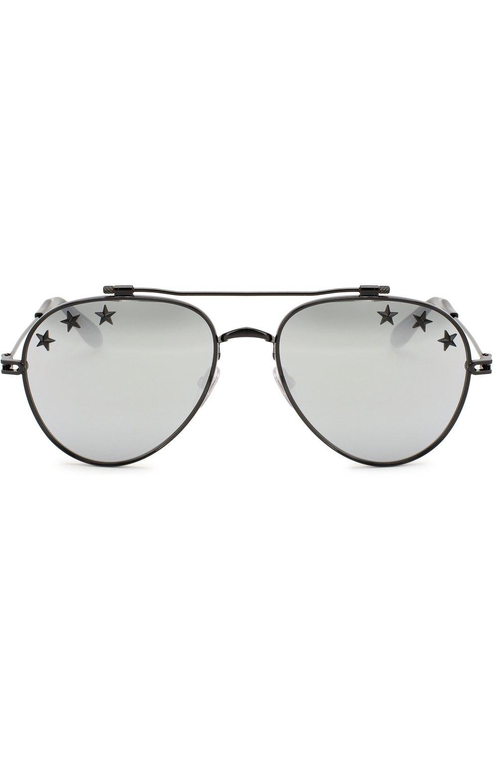 Женские солнцезащитные очки GIVENCHY черного цвета, арт. 7057/STARS 807 DC   Фото 4